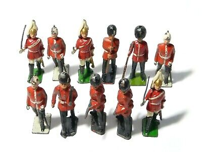 11 Vintage Lead Solider Toys Royal Guards Household Play Worn #9 • 18£