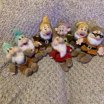 Snow White And The 7 Dwarfs / Dwarves 12  Plush Beanie Collection • 24.99£