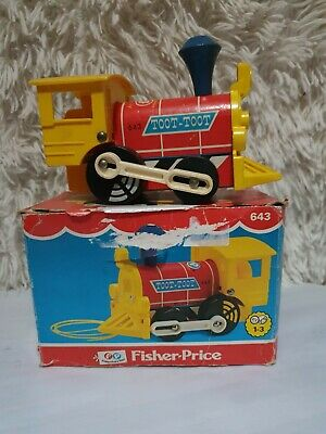 Boxed Vintage Fisher Price Toot Toot Train Children's Pull Along Toy  - 1964 • 12.99£