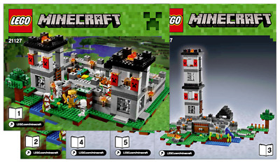 Lego Minecraft 21127 The Fortress - INSTRUCTIONS MANUAL ONLY - Brand New • 19.99£
