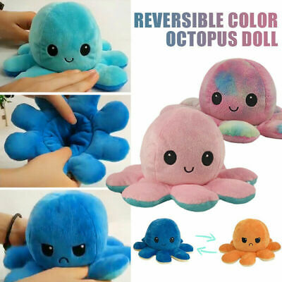 Double-Sided Flip Reversible Octopus Plush Toy Squid Stuffed Doll Toys • 6.86£