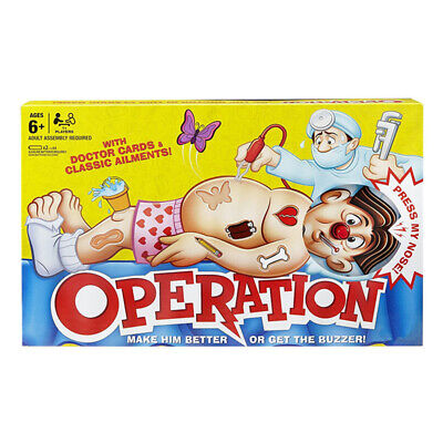 Classic Operation Kids Family Board Game Fun Childrens Xmas Gifts Toys • 13.95£