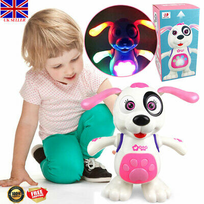 Toys For Girls Pink Light & Music Dog 1 2 3 4 5 6 7 8 9 Year Age Old Kids Gifts • 11.69£