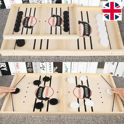 Fast Sling Puck Game Hockey Game Tablet Board Game Family Fun Games Child Toy UK • 16.99£