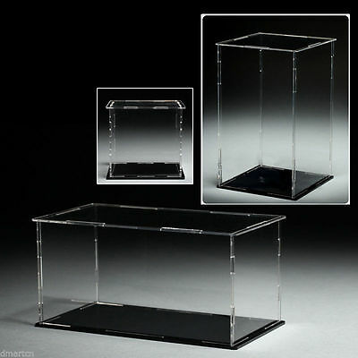 Acrylic Plastic Display Case Box Dustproof Self-Assembly Various Sizes To Choose • 25.78£