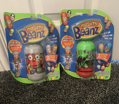 Mighty Beanz Clip N Carry Cases With Special Editions Holds 14 Beanz NEW • 14.95£