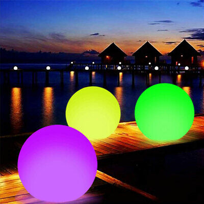 Large Floating Inflatable Beach LED Ball Toy With Color Changing For Halloween • 11.17£