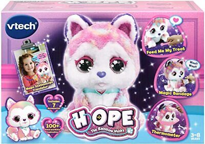 VTech Hope The Rainbow Husky Interactive Soft Toy For Children Ages 3+ BRAND NEW • 54.99£