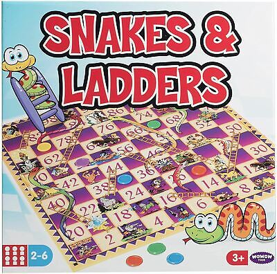 Snakes & Ladders Traditional Board Game Kids Childrens Family Toy Stocking Gift • 3.95£