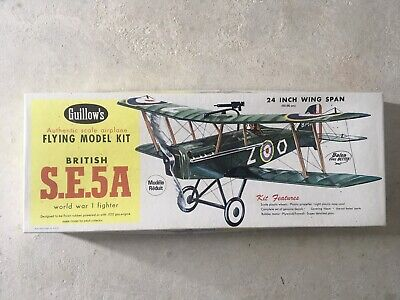 Guillows British SE5A 24  Span Kit No 202 New In Box Rubber Powered  • 58£