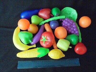 Large Size - Selection Of Pretend Play Food -(full Size)  Fruit + Vegetables • 2.50£