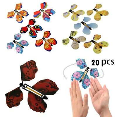 20 Magic Flying Wind Up Butterfly Toy For Christmas Greeting Card Wedding Prank • 9.99£