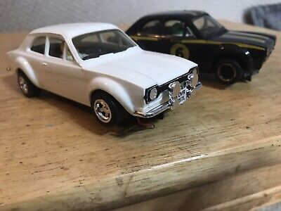 SCALEXTRIC C52 TWO Ford Escort Mk1 RS1600 2 X Cars.vintage Slot Car • 33£