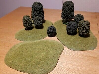 GW Scenery - Flocked Hills (x3) And Trees (x8) • 15£
