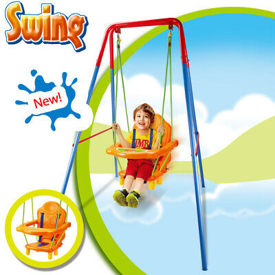 Baby Swing Nursery Kids Back Seat Support Garden Toddler Play Outdoor Activity • 59.80£