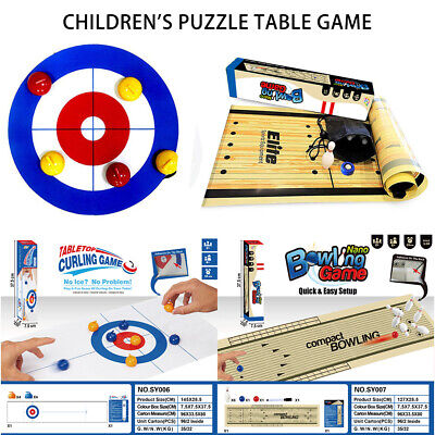 Curling Bowling Table Game Adult Kids Training Tabletop Ball Family Fun Toy Set • 12.09£