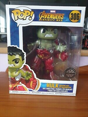 Funko Pop Vinyl - Marvel Avengers Infinity War Hulk Bursting Out Of Hulkbuster. • 42.99£