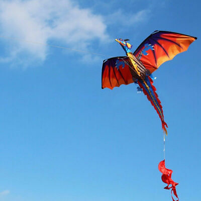 3D Dragon Kite Single Line With Tail For Parent-child Interaction Outdoor Kite • 14.49£