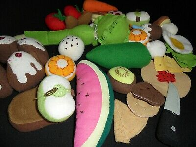 Ikea Fabric Play Food Job Lot Of Cakes Fruit + Vegetables     - Play Food • 7£