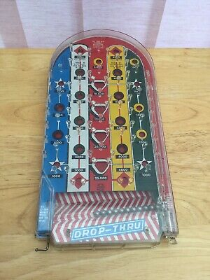 VINTAGE 'Drop-Thru' Bagatelle Game By Marx Metal & Plastic Casing • 6.80£