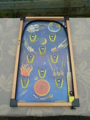VINTAGE 1960/70s SPACE BAGATELLE PIN BALL GAME BY KAY LONDON. • 24.99£