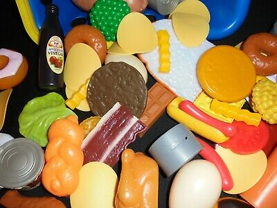 SELECTION OF PRETEND PLAY FOOD - BREAD FRUIT MEAT Etc Ideal In KITCHEN OR SHOP • 3.50£
