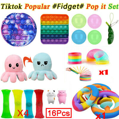 12x Set Fidget Sensory Toys Autism ADHD SEN Stress Relief Special Need Education • 12.98£