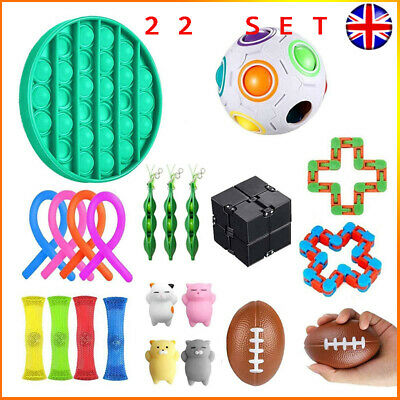 22 Pack Fidget Toys Set Sensory Tools Bundle Stress Relief Hand Kids Adults Toy • 20.59£