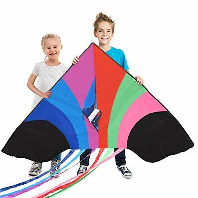 Stoie's Huge Rainbow Kite For Kids And Adults–1.6M Wide–100 Meter • 17.13£