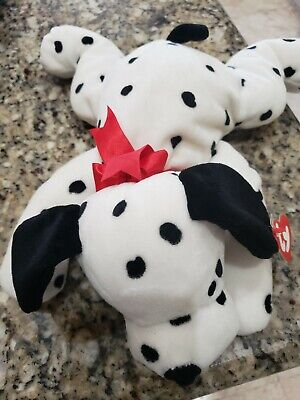 Ty Inc. 1997 Pillow Pals Collection  Spotty  Plush Toy Dalmatian Dog 15  Nwt • 7.35£