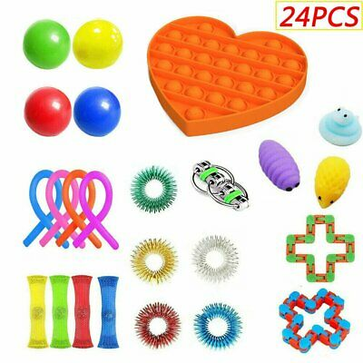24Packs Sensory Fidget Toys Set Stress Relief Toys Autism Special Need Education • 13.98£
