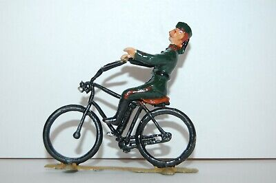 Vintage White Metal Lead British Soldier On Bike • 7.99£