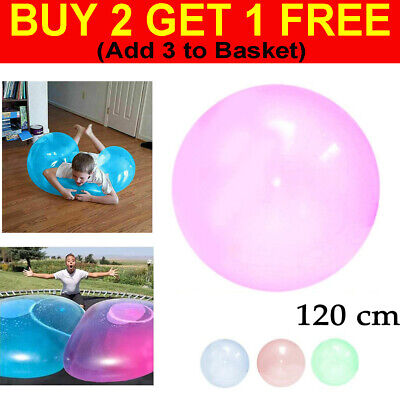 UK 120cm Inflatable Bubble Ball Super Soft Stretch Large Outdoor Water Balloons • 5.35£