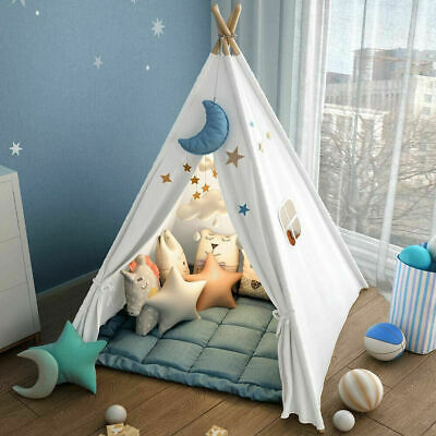Kids Teepee Wigwam Childrens Play Tent Childs Indoor Outdoor Toy Play House UK • 21.95£