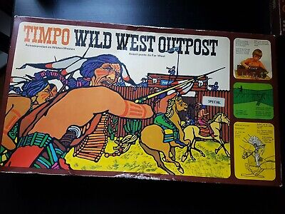 Timpo Vintage Wild West Outpost - 257 (Original Box / Complete) • 129.99£