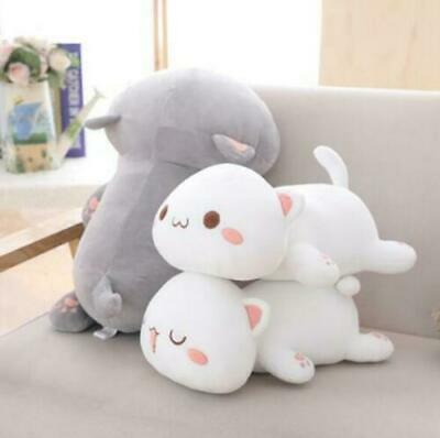 Kawaii Lying Cat Plush Toy Stuffed Cute Cat Doll Lovely Animal Kids Holiday Gift • 28.99£