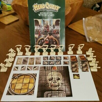 HEROQUEST RETURN OF THE WITCHLORD COMPLETE UNPAINTED (unboxed)  • 25£