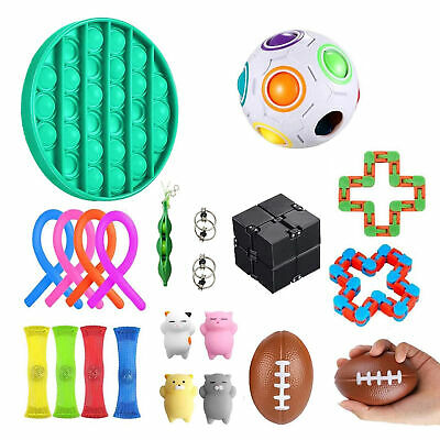 22 PACK Fidget Toys Sensory Tools Bundle Stress Relief Hand Toys Kids Adults • 14.95£