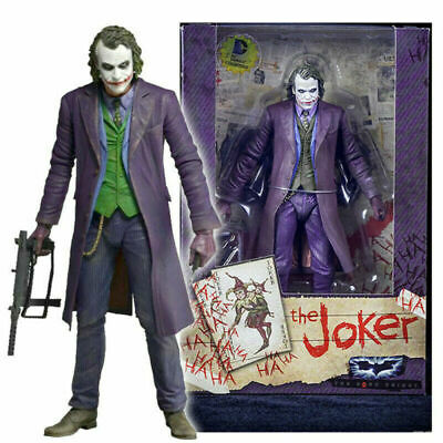 7'' NECA Action Figure Joker Batman Dark Knight Heath Ledger DC Movie Universe • 18.22£