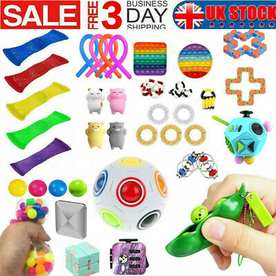 1-48Pack Fidget Toys Set Sensory Tools Bundle Stress Relief Hand Kids Adults Toy • 19.99£