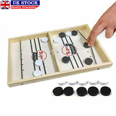 Family Games Table Hockey Game Catapult Chess Parent-child Interactive Toys UK • 6.39£