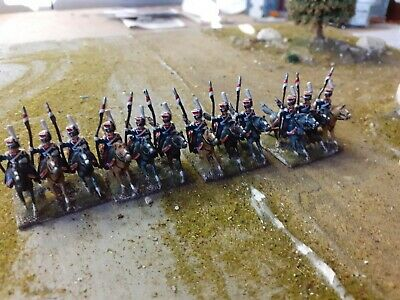 15 Mm Napoleonic Cavalry, French Lancers 12 Figures Professionally Painted. • 18£
