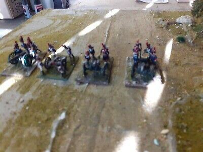 15 Mm Napoleonic French Artillery, 4 Deployed Guns With 16 Crew • 18£