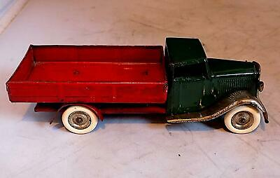 Vintage Tinplate Clockwork 25M Post-War Delivery Truck, Tri-ang Minic, England • 12.50£