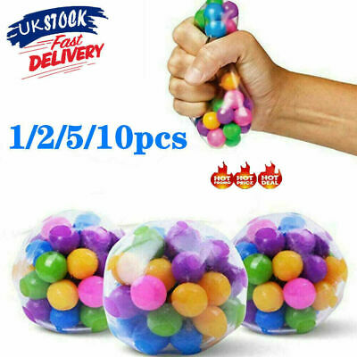 1-10PCS Sensory Stress Reliever Ball Toy Autism Squeeze Anxiety Fidget Toys UK • 10.99£
