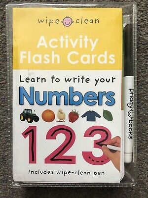 Wipe Clean: Activity Flash Cards Numbers - Excellent Condition • 1.50£