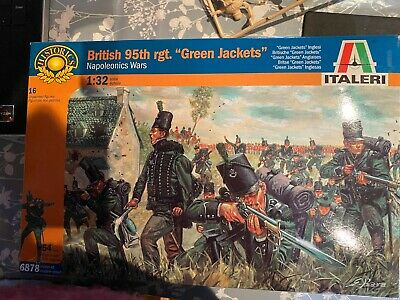 Italeri 95th Rifles Sharpe 54mm 1/32 Figures Napoleonic Part Set  8 Figures • 4.19£