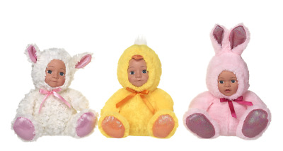 New Easter Dolls In Outfits Lamb Chick Bunny • 11.99£