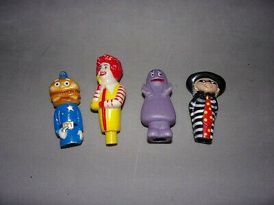 Mcdonalds  Pen / Pencil Toppers   x 4   1980's • 3£