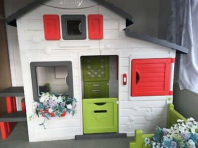 Smoby Friends Playhouse Pristine Cond Only Used Indoors + Picnic Bench • 165£